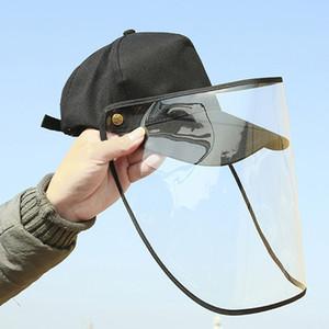 Ayrılabilir Temizle Yüz Maskesi Çift kullanımlı Güneş Şapka X39FZ Koruyucu Yüz Kalkanı Kapak Şapka Unisex Karşıtı tükürme Tükürük Drool Cap