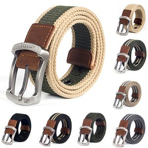 High Quality Canvas Belt Outdoor Tactical Men&women Canvas Alloy Buckles Belts For Jeans Male Fashion Casual Belt