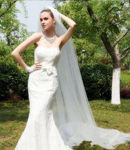 Uma camada / Duas Camadas 3 merters Suave Tulle 2019 Hot Sale Wedding Veils Com Pente Longo Princesa Bridal Veils Acessórios
