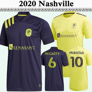 2020 2021 맥카티 바디무크타르만 SC 축구 유니폼 뉴 내쉬빌 홈 어웨이 축구 셔츠 레알 다니엘 리오스 짐머만 반소매