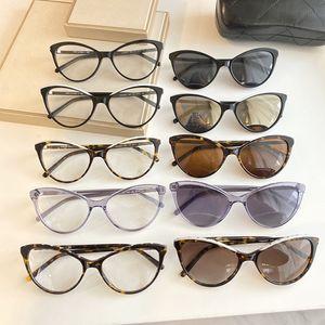 2020 Hotsale atractivo CH3394 pequeño ojo de gato gafas de sol gafas de óptica para las mujeres 54-18-140 ligera receta lleva caja de vidrios Set completo