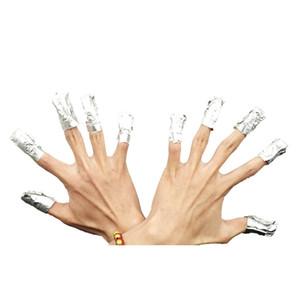 40 set Aluminium Foil Nail Art Soak Off Polish Nail Removal Wraps Nail Towel Gel Polish Remover Manicure Tool 100pcs  bag