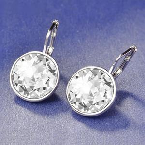 Trending Styles Klassische Kristalle Von Swarovski Ohrringe Für Frauen Elegante Brincos Pendientes Neue Ohrringe Modeschmuck Bijoux Geschenk