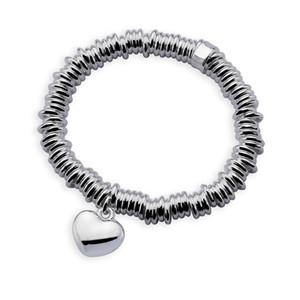 Kostenloser Versand mit Tracking-Nummer Spitzenverkauf 925 silbernes Armband Dense Ring mit Herz Armband Silber Schmuck 10Pcs / lot billig 1804