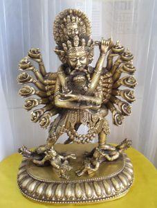004088 Tibetan Buddhist bronze Chakrasamvara buddha statue 30 cm 2.8 KG
