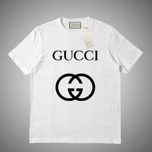GUCCI 2019 estate di marca T-shirt da uomo Skateboards O-Collo manica corta Hip Hop maglietta a strisce donne casuale Undershirt T superiori # 452.159