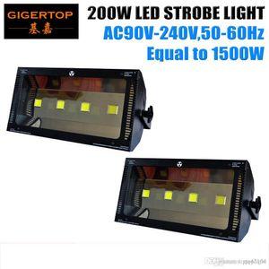 Freeshipping 2XLOT 200W Led Strobe Stage Light White Color Mini Led Room Strobe Light 4 LED SMD 50W Stage Effect Light 90V-240V TP-S200