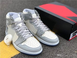 Release Authentic x 1 Low High OG Basketball Shoes Men Wolf Grey Sail Photon Dust White 1S Designer Sports Zapatos Outdoor Sneakers