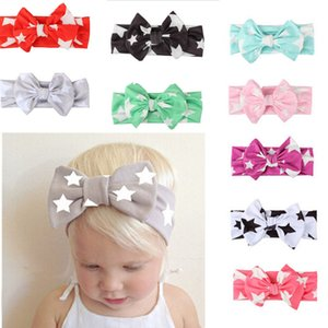 9PC Kid Girl Baby Toddler Infant Star Bow Headband Hair Bow Band Casual Hair Accessories