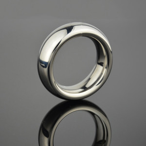 Round Delay Ejaculation Cock Ring Stainless Steel Penis Ring 40mm 45mm 50mm Cockring Delay Time Penis Loop Adult Product for Men