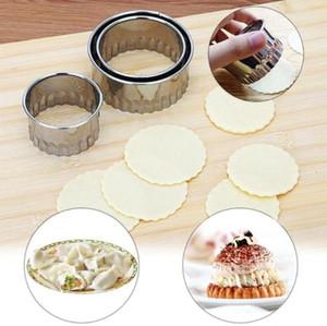 3 unids / set acero inoxidable fabricante de la bola de masa hervida molde diy pasta de pastelería cortador bola de masa hervida envoltura de corte redondo anillos molde envío gratis