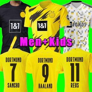Tailandesa HAALAND Borussia Dortmund camiseta de fútbol 19 20 21 2020 2021 camisetas de los hombres 110a SANCHO REUS Hummels BRANDT Götze niños kit maillot