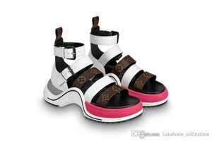 Son Archlight Kadın Sneaker Sandalet, Mükemmel Bahar Aksesuar olan Dört Buzağı Deri Sapanlar ile Düz Sandalet Moda Slaytlar