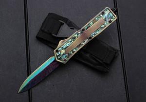 MT 3300 golden abalone shell táctico cuchillo automático EDC cuchillo de caza portátil al aire libre 440C camping supervivencia cuchillo de bolsillo regalo de los hombres