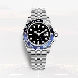 montre de luxe mans otomatik saatler GMT seramik tam paslanmaz çelik 40mm süper parlak su geçirmez Relojes de lujo para hombre
