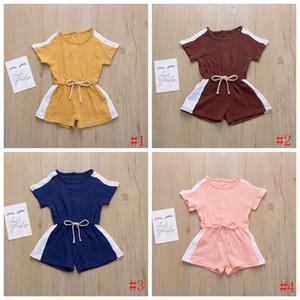 아이들은 디자이너의 옷 아기 워크 슈트 소년 소녀 짧은 장난 캐주얼 Bodysuit 반바지 아을 잠옷 Payamas PY489
