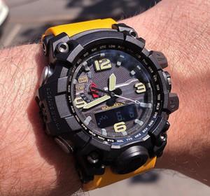 Deporte Comercio mayorista GTG lujo del diseñador del reloj para hombre waterpoor LED analógico digital relojes de pulsera brújula termómetro Todo puntero Trabajo choque Relojes