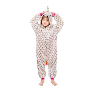 Enfants Licorne Pyjamas Bébé À Capuche Licorne Sleepwear Garçons Filles De Bande Dessinée Onesies Enfants Flanelle Animal Cosplay Costume Barboteuses GGA2455