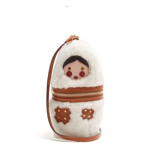 Tasarımcı-Rus Doll Peluş çanta 2019 kadın 9a11c Kadife Çanta Omuz Çantası küçük Mini Torba kadın çanta tasarımcısı çanta crossbodybag