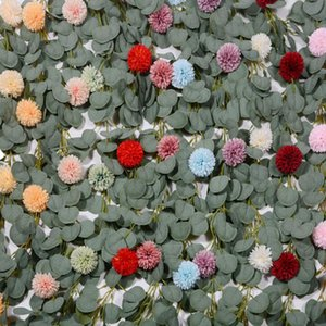 2m Artificial Silk Rose Flower Wisteria Vine Rattan Hanging Flower Garland for Wedding Party Home Garden Decoration