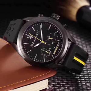 Premium Relógio De Quartzo Das Mulheres Dos Homens Top Marca Maserati Relógios De Aço De Silicone Relojes Hombre Horloge Orologio UOM Montre Homme RELÓGIO de CORRIDA