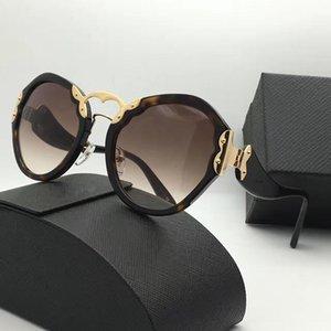 Spr 09T Luxus-Sonnenbrille Retro- runde Form Mode-Weinlese-Sommer-Art-Schutz UV400 populäre Frauen Marken-Designer kommen mit Fall verkauft b