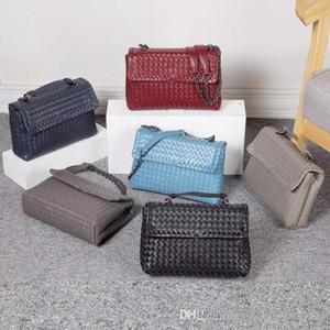 Livraison gratuite Wholesale Cheap Designer en cuir véritable chaîne de Lady Sacs à main en peau de mouton Sacs à bandoulière Sac Crochet Couleurs Noir luxe Porte-Monnaie