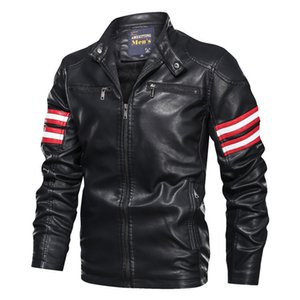 KIMSERE Mens Leather Biker Jackets Fashion Faux Leather Motorcycle Jacket Outerwear For Man Trucker Outerwear Clothing L-XXXL