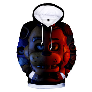 Spring New 3D Print Mens Hoodies Five Nights at Freddy Fashion Sports Outdoor Wears 2020 Men Jackets with Hooded Wholesale Sweatshirts 039
