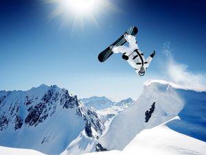 0496B Shaun White Snowboarding Jump Extreme Sport-Wall Sticker Silk Poster Light Canvas Decoration