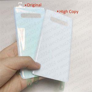 Yapıştırıcı Sticker ücretsiz DHL ile Samsung Galaxy S10 Artı G973 G975 için 50 adet OEM Pil Kapı Arka Konut Kapak Cam Kapak