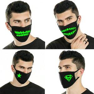 Glow Masks Purchased Light Up Outdoor Costume Led Luminous Flashing Light Face Mask Wind Proof Cycling Maskhorrible Fangs ABC2007 LlMJD