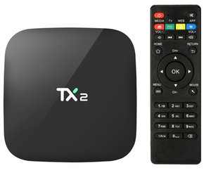 2GB RAM TX2 R2 16GB android caixa de tv Android 6.0 RK3229 WiFi Bluetooth Media Player Suporte HDMI LAN cheape USB Smart TV Box