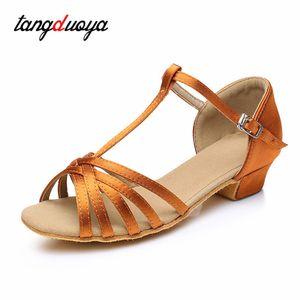 Girls Latin dance shoes zapatos de baile latino professional tango salsa shoes dance performance soft bottom girls