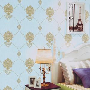 Avrupa Şam basit Duvar kağıdı rulosu 3d stereo pvc su geçirmez TV duvar kağıdı yatak odası oturma odası sıcak pastoral tarzı ev dekoratif duvar