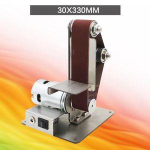 Mini bricolaje lijadora de banda de lijado máquina de pulir abrasivos Cinturones Grinder Pulido KSI999