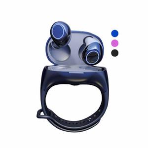HM50 TWS Écouteurs Sans Fil Portable Bracelet Poignet Écouteurs Sport Casque Bluetooth 5.0 Fitness Watch Chargeur Casque pour Smartphone