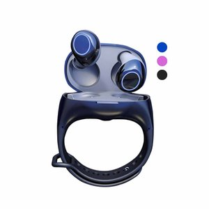 HM50 TWS Wireless Earbuds Portable Bracelet Wrist Earphones Sports Headset Bluetooth 5.0 Fitness Watch Charger Headphone for Smartphone