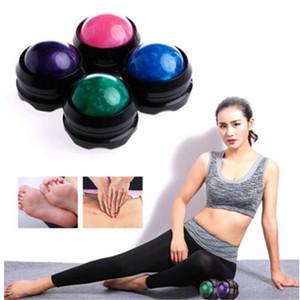 1pcs masaje bola de rodillo portátil fisioterapia bola del pie posterior para la cintura Masaje Corporal Relajante aliviar el estrés Relajación muscular