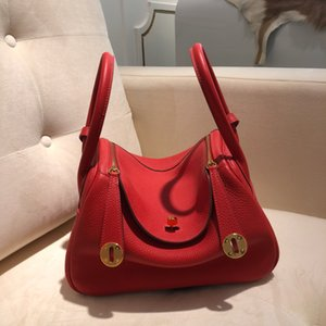 AS030The designer's first choice is BK 26cm high-end imported calf leather stitching women's bag top wax thread sewing handbags