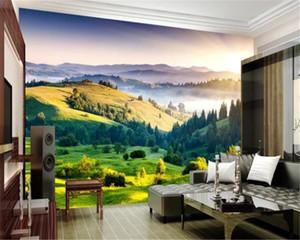 3d обои Mural Grassland Scenery 3D Пейзаж Картина Home Decor Гостиная Спальня Wallcovering HD обои