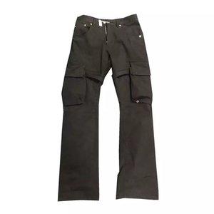 Calças Designer Mens VUJADE CARGO FLARE bolso da calça da fita Roupa Micro Alargamento Pants Travis Moda Casual aptidão High Street