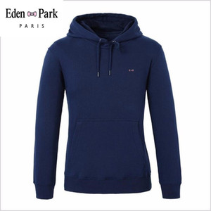 2020 High Quality Eden Park Brand Mens Polo Shirt Plus Size Solid Polo Shirts Long Sleeve Hooded collar Shirt Camisa Polo S-3XL
