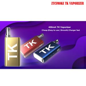 ZTCSMOKE TK Vaporizer Battery Box Mod Pod System 400mAh Preheat VV Battery 0.5ml Cartridge With 510 Magnetic Ring Vape Pen Kits