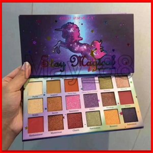 2020 Popular COCO URBAN Eye Makeup 18 Colors Shimmer Eyeshadow Palette Preseed Pigment Stay Magical With high quality