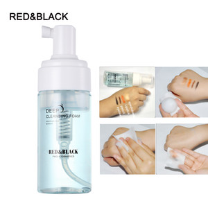 Redblack Deep Cleansing Foam Makeup Remover Gentle بدون تهيج العناية بالبشرة