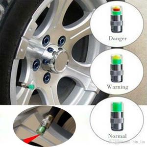 Mini 2.4Bar neumático del coche de presión de los neumáticos TPMS caps herramientas de alerta Herramientas indicador de la válvula Monitor 3 color Alerta de diagnóstico Accesorios