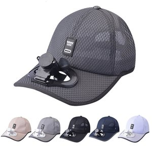 Yazlık şapkalar kadınlar için pamuklu Beyzbol şapkası Fan soğutma kapağı USB Şarj nefes Gölge güneş koruyucu şapka Sombrero Mujer Verano