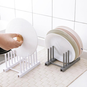 Kitchen Organizer Topfdeckel Rack-Plastiklöffel-Halter für Topfdeckel Regal Kochen Abtropfbrett Pan Abdeckung Küchenzubehör Ständer