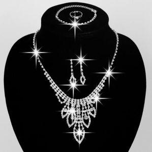 Свадебные комплекты ювелирных изделий серьги ожерелье кольца браслет аксессуары один комплект включает четыре шт роскоши моды новый стиль горячий продавать HT125